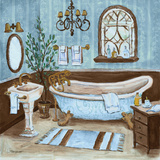 Tranquil Bath II Prints by Todd Williams