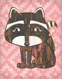 Radly Raccoon Posters af Sta Teresa Ashley