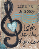 Life Is A Song Posters by Monica Martin