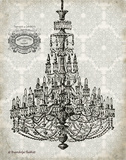 Vintage Chandelier I Poster by Babbitt Gwendolyn