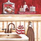 Red Bath I Posters af Gregory Gorham