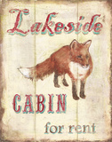 Lakeside Cabin Art by Catherine Jones