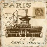 Paris Collage Sq. IV Affiches par Gregory Gorham