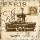 Paris Collage Sq. IV Prints by Gorham Gregory
