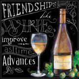 Wine Toasts II Print by Donna Knold