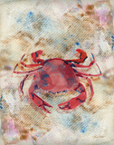 Red Crab Posters by LuAnn Roberto