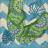 Coastal Flip Flops II Art by Brent Paul