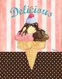 Ice Cream Shoppe I Print by Brent Paul