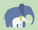 Blue Zoo III Posters by Ruff Kris
