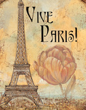 Vive Paris Prints by Audrey Charlene