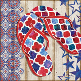 Patriotic Sarasota Sandals I Posters by Brent Paul