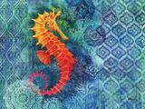 Seahorse Batik Poster by Paul Brent