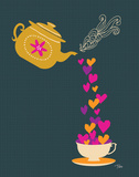 Tea Love Poster von Teresa Woo
