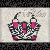 Pink Purse Square I Print by Todd Williams