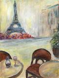 Paris Cafe Prints by Palanuk-Wilson Denice