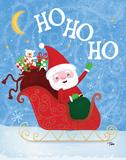Santa Sleigh Posters by Teresa Woo