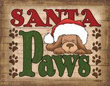 Santa Paws Print by Williams Todd