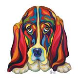 Basset Hound Prints by Bucci Debra