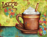 Spring Latte Prints by Donna Knold