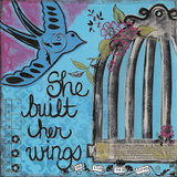 She Built Her Wings Prints by Monica Martin