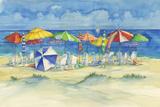 Watercolor Beach Print by Brent Paul