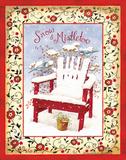 Snow & Mistletoe Print by Gwendolyn Babbitt