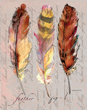Three Feathers I Poster by Gregory Gorham