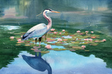 Lakeside Heron Prints by Washburn Lynnea