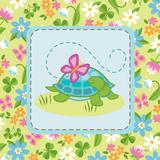 Meadow Turtle I Posters van White Betz
