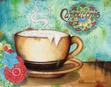 Spring Cappuccino Print by Donna Knold