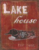 Lake House Print by Catherine Jones