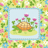 Meadow Turtle II Print by White Betz