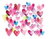 I Heart You Hearts Poster by Sara Berrenson