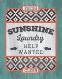 Sunshine Laundry Poster by Ashley Sta Teresa