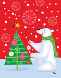 Polar Bear & Tree Posters by Teresa Woo