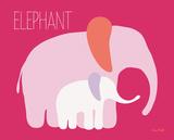 Pink Zoo III Prints by Ruff Kris