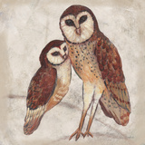 Two Owls I Poster von Lisa Ven Vertloh