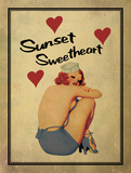 Sunset Sweetheart Prints by Giacopelli Jason