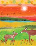 To the Moon Print by Lori Portka