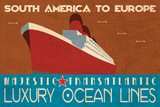 Ocean Liner Posters by Jason Giacopelli