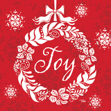 Joy Wreath Print by Woo Teresa