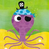 Pirate Octopus Prints by Steve Mack