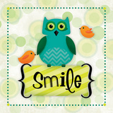 Owl Smile Prints by Squared R2