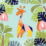 Jungle Giraffe Leaves Prints by Berrenson Sara