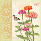 Zinnias II Prints by Washburn Lynnea