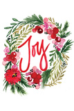Joy Wreath Prints by Sara Berrenson
