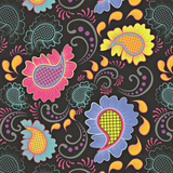 Playful Paisley I Prints by Young Patty