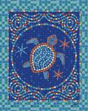 Macedonia Reef Turtle Schilderijen van Woo Teresa