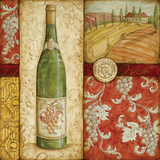 Italian Wine Collage Prints by Kate McRostie