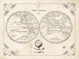 Zone World Map II Print by Gwendolyn Babbitt